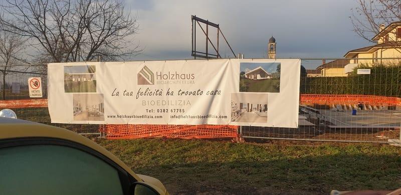 Cantiere a Vidigulfo Holzhaus Bioedilizia
